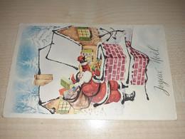 Christmas Decorated Postcard, Algeria Stamp, Alger Stamps, 1964 - Algeria (1962-...)