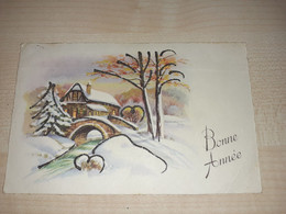 Decorated Christmas Postcard, Algeria Stamps, Alger Stamp, 1965 - Algeria (1962-...)
