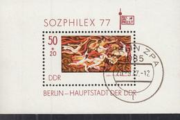 DDR Block 48, Gestempelt, SOZPHILEX 1977 - Bloques