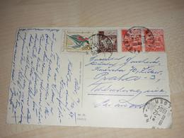 Christmas Postcard, Algeria Stamps, Alger Stamp, 1964 - Algeria (1962-...)