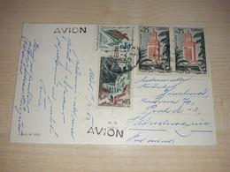 Easter Postcard, Algeria, Alger Stamp, Stamps, 1963, Avion - Algeria (1962-...)