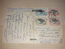 Winter Postcard, Algeria Stamps, Stamp Alger, 1964, Avion + Another Stamp - Algeria (1962-...)
