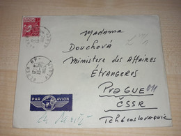 Old Cover, Algeria, Alger, To Czechoslovakia, Alger Stamp, Stamps, Par Avion To Paris, 1965 + Original Postcard - Algeria (1962-...)