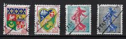 ALGERIE 1962 - YT1230A/1232/1233/1234A** - SURCHARGES EA INTERDEPARTEMANTALES - (Blasons Et Semeuses) - Algeria (1962-...)