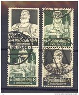 Allemagne  -  Reich  -  Se Tenant  :  Mi  S 219  + 221  (o)         ,      N2 - Zusammendrucke