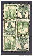 Allemagne  -  Reich  -  Se Tenant  :  Mi  S 232 + 234  + K 25  **   Le Bloc - Zusammendrucke