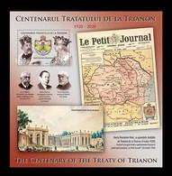 Romania 2020 Mih. 7785 (Bl.850) World War I. Peace Treaties Of Paris MNH ** - Ongebruikt