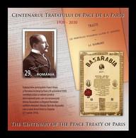 Romania 2020 Mih. 7784 (Bl.849) World War I. Peace Treaties Of Paris MNH ** - Ongebruikt
