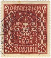 AUTRICHE / ÖSTERREICH 1922 ERNSTBRUN-KORNEUBURG Nr623 Bahnpoststempel Mi.400A.II - Gebruikt