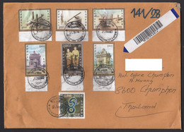 Laos To Thailand Registered Air Mail Stamps From 2019 - Laos