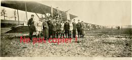 PHOTO FRANCAISE - AVION BIPLAN ET AVIATEURS A LUNEVILLE PRES DE GERBEVILLER - MEURTHE ET MOSELLE GUERRE 1914 1918 - 1914-18