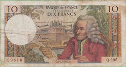France - Billet De 10 Francs Type Voltaire - 2 Décembre 1965 - 10 F 1963-1973 ''Voltaire''