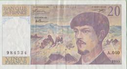 France - Billet De 20 Francs Type Claude Debussy - 1993 - 20 F 1980-1997 ''Debussy''