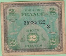 France - Billet De 2 Francs - Emission Alliés - Drapeau - Série 1944 - 1944 Flagge/Frankreich