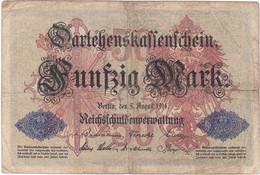 Allemagne - Billet De 50 Mark - 5 Août 1914 - 50 Mark