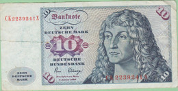 Allemagne - Billet De 10 Mark - Albrecht Dürer - 2 Janvier 1980 - P31 - 10 DM