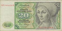 Allemagne - Billet De 20 Mark - Elsbeth Tucher - 2 Janvier 1980 - P32 - 20 DM