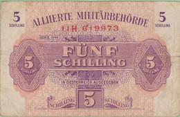 Autriche - Billet De 15 Schilling - Alliierte Militärbehörde - Emissions Alliés - Série 1944 - P104b - Austria