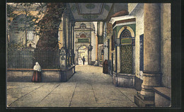 AK Constantinople, Cour Intèrieure Du Tombeau Sacrè D`Eyoub - Turchia