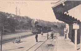 64 -- Gan -- La Gare -- Locomotive à Vapeur - Otros Municipios