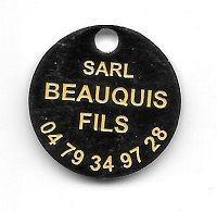 Jeton De Caddie  Ville, Plomberie  S.A.R.L  BEAUQUIS  FILS  à   73100 Pugny-Chatenod  Verso  1 € - Moneda Carro