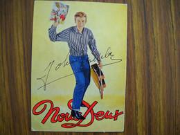 Autographe Et Signature Sur Carte Postale De Johnny Hallyday . - Autogramme & Autographen