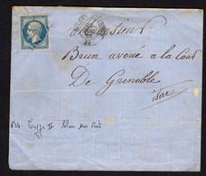 FRANCE ( OBLITERATION LOSANGE )  PC  SUR  ENVELOPPE   3471   Valence-sur-Rhône Drôme  , A  SAISIR . - 1849-1876: Klassik