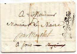 """Linéaire """"VIENNE3 Et Franchise """"LE SOUS-PREFET De VIENNE""""le 7 Mars 1817 Pour JONS. - 1801-1848: Precursori XIX"""