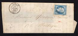 FRANCE ( OBLITERATION LOSANGE )  PC  SUR  ENVELOPPE   1618   Laigle  Orne   , A  SAISIR . - 1849-1876: Klassik