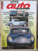 Revue Auto Passion N°34 (avril 1990) Simca Gordini - Lancia Dunja - 203 Peugeot - Aston Martin DB4 GT - Auto/Motor