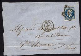 FRANCE ( OBLITERATION LOSANGE )  PC  SUR  FRAGMENT  1818   Lyon Rhone  , A  SAISIR . - 1849-1876: Klassik