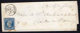 FRANCE ( OBLITERATION LOSANGE )  PC  SUR  LETTRE  2807  Sarlat  Dordogne   , A  SAISIR . - 1849-1876: Klassik