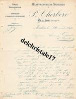 64 0009 MAULÉON B.-PYR. 1899 Manufacture De Sandales & Espadrilles Cousu-Machine P. CHERBERO Dest. Mrs SANS & GARCERIE - 1800 – 1899