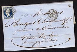 FRANCE ( OBLITERATION LOSANGE )  PC  SUR  LETTRE  1896  Marseille Bouches-du-Rhone    , A  SAISIR . - 1849-1876: Klassik