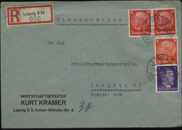 S1804 DR R - Firmen Briefumschlag ,Kramer, Gebraucht Leipzig Messe 1942 , Bedarfserhaltung. - Covers & Documents
