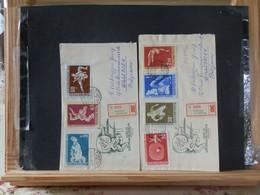 91/914    2 LETTRES RECOMM. 1958 - Lettere