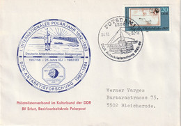 DV 50) DDR SSt Potsdam 4.10.1982: Antarktis Forschung, Polarjahr, Südgeorgien - Geography