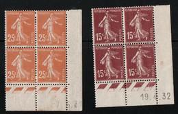 France YT 189 Coin Daté Neuf Sans Charnière Ni Sur Timbre Ni Sur Marge 1932 YT 235 Avec Charnière - ....-1929