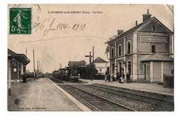 SAINT ETIENNE SAINT GEOIRS LA GARE TRAIN ANIMEE - Other Municipalities