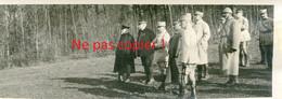 PHOTO FRANCAISE - VISITE DE JOFFRE ET POINCARE A FRAIMBOIS PRES DE LUNEVILLE - MEURTHE ET MOSELLE GUERRE 1914 1918 - 1914-18