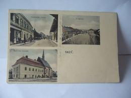 SKUC AUTRICHE NADRAZNI UTICE NAMESTI SPITALNI KOSTEL CPA J.HLADIK STUC 1906 - Other