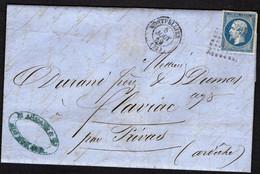FRANCE ( OBLITERATION LOSANGE )  PC  SUR  LETTRE   2128   Montpellier Hérault  , A  SAISIR . - 1849-1876: Klassik