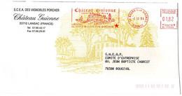 GIRONDE - Dépt N° 33 = BOURG 1994 = EMA Illustrée Thème VIN  ' Chateau GUIONNE à LANSAC ' - Affrancature Meccaniche Rosse (EMA)