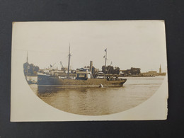 """Carte Photo Du Bateau """"BIDASSOA"""" Transport De Tonneaux - Comercio"""