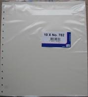 SAFE/I.D. - Feuilles Neutres Fond Chamois UNIES (REF. 782) - Paquet De 10 - Fogli Bianchi