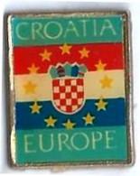 PAYS - CROATIE - EUROPE- P35 - DRAPEAU - Verso : SM - Cities