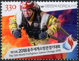 South Korea 2018. 13th World Firefighter Games, Chungju (MNH OG) Stamp - Korea, South