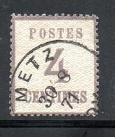 Maury N° 3 Type A Gris Violet - Burelage Droit Oblitéré à METZ Cote : 140 € - - Alsace-Lorraine