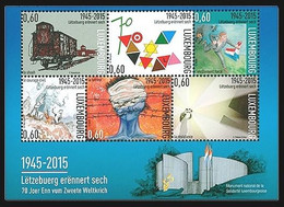 Luxembourg 2015. 70th Anniversary Of The End Of World War II.  Victory And Liberation. MNH - Unused Stamps