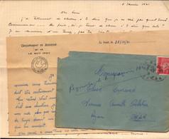 Lettre, Var, Chantiers De La Jeunesse, Le Muy,  Groupement De Jeunesse N°16 En Foret Du Rouet, 1941    (bon Etat) - 2. Weltkrieg 1939-1945